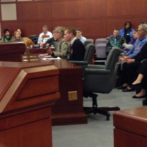Families waited hours to testify at an evening Appropriations Hearing